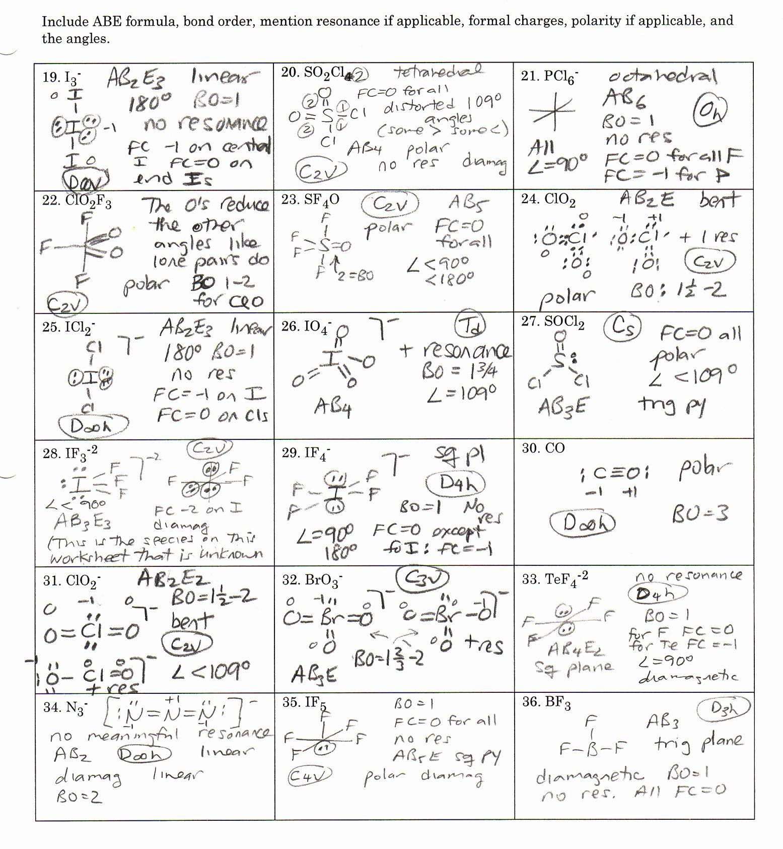 Lewis Dot Structure Practice Worksheet Luxury Lewis Dot Structure Worksheet with Answers Worksheets