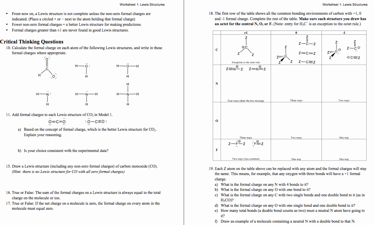 Lewis Dot Structure Worksheet Answers Best Of Lewis Structure and Molecular Geometry Worksheet Answers
