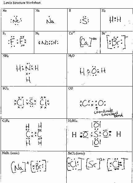 Lewis Dot Structure Worksheet Fresh Lewis Dot Structure Worksheet