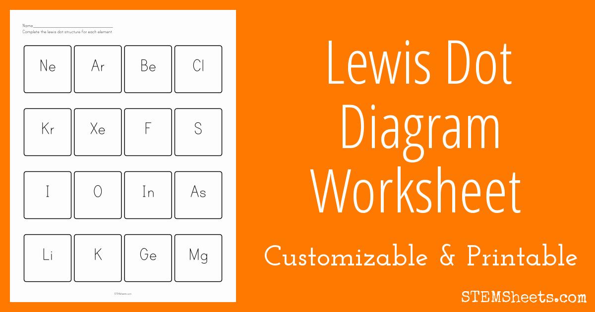 Lewis Dot Structure Worksheet Luxury Lewis Dot Diagram Worksheet