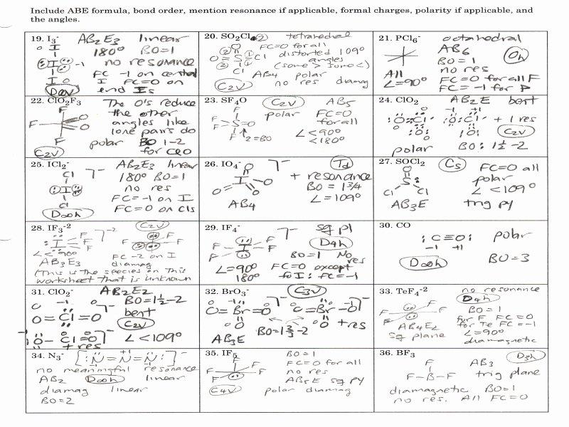 Lewis Dot Structure Worksheet Unique Chemistry Worksheet Lewis Dot Structures Answers Free