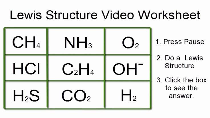 Lewis Structure Practice Worksheet Luxury Lewis Structures Worksheet Video Worksheet with Answers