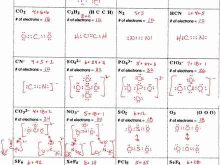 lewis structures worksheet