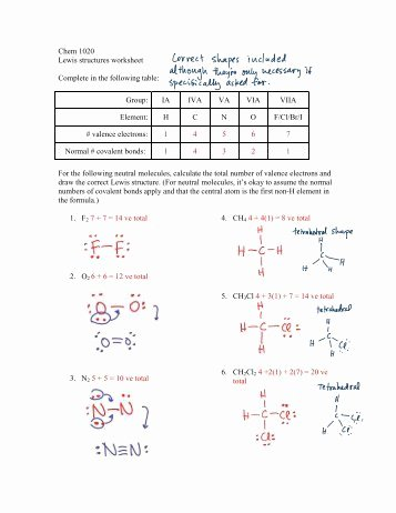 Lewis Structure Worksheet with Answers Beautiful Draw the Lewis Dot Structure for the Following Substances
