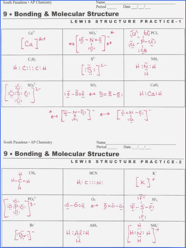 Lewis Structure Worksheet with Answers Beautiful Drawing Lewis Structures Worksheet