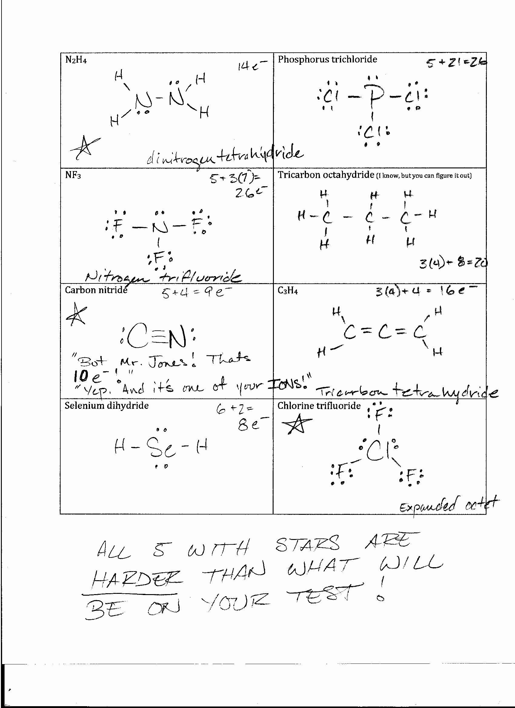 Lewis Structure Worksheet with Answers Best Of Foothill High School