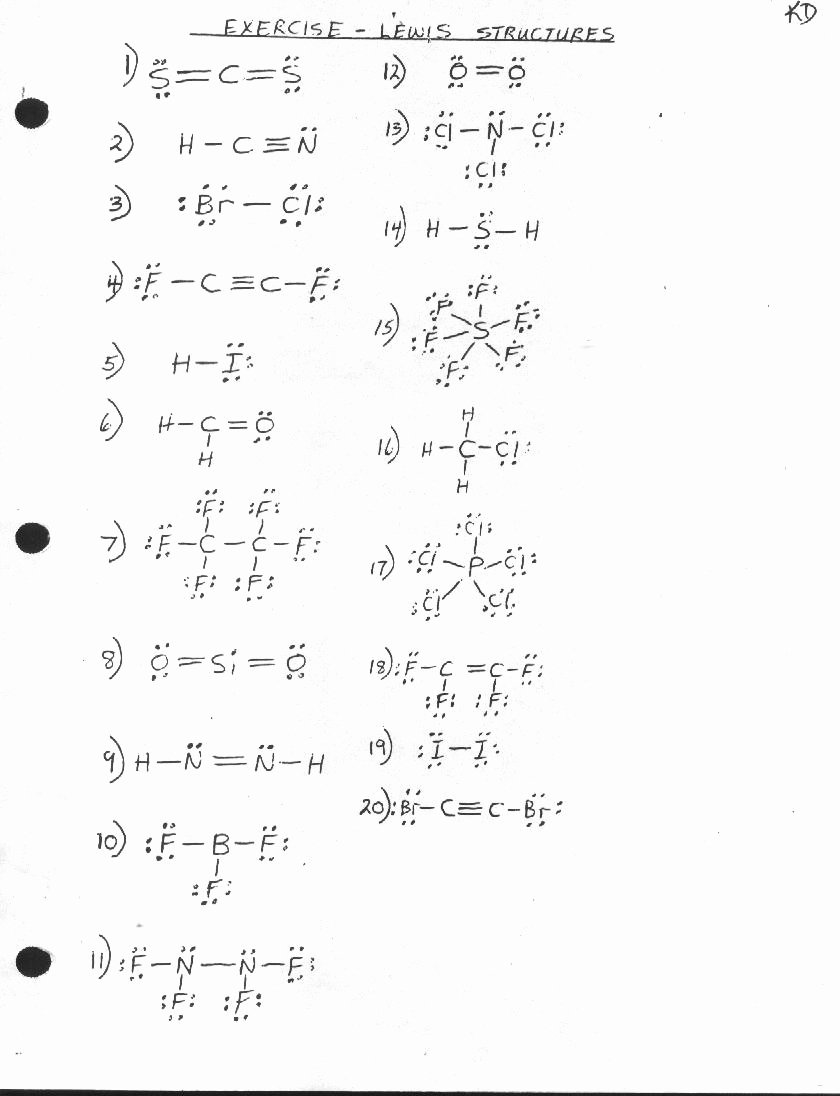 Lewis Structures Worksheet with Answers Awesome Unit 1