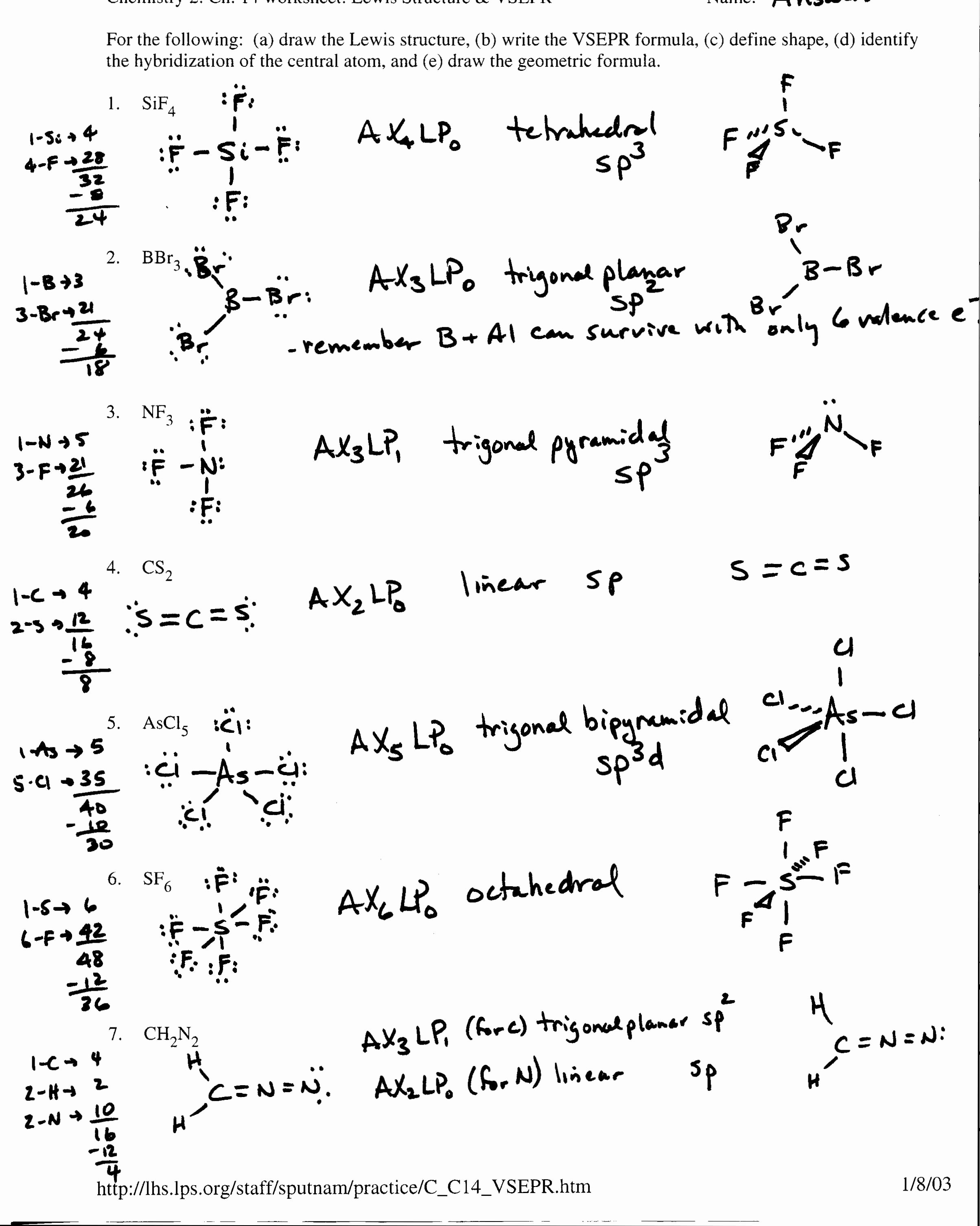 Lewis Structures Worksheet with Answers Beautiful Lewis Structure and Molecular Geometry Worksheet Answers