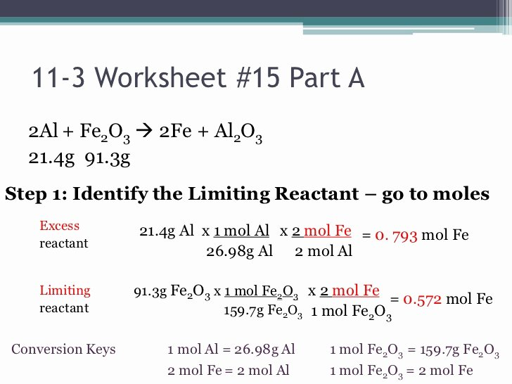 Limiting Reactant Worksheet Answers Awesome Chemistry I Honors Stoichiometry Limiting Reactant