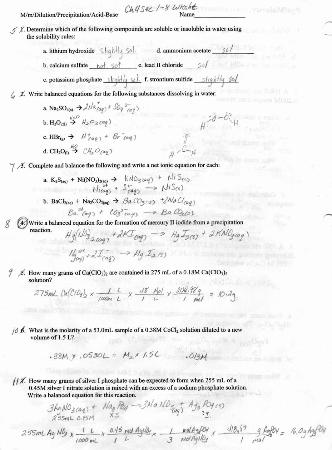 Limiting Reactant Worksheet Answers Elegant Limiting Reagent Worksheet Answers