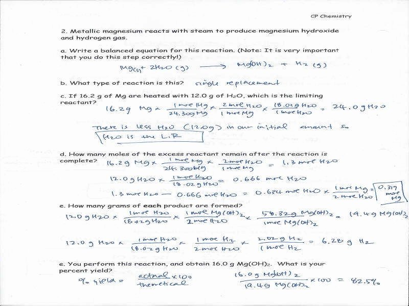 Limiting Reactant Worksheet Answers Lovely Stoichiometry Limiting Reagent Worksheet