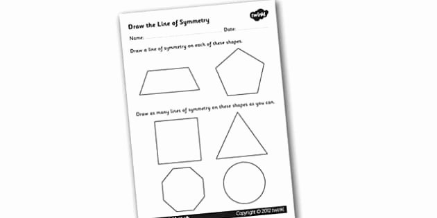 Line Of Symmetry Worksheet Beautiful Draw the Line Of Symmetry Worksheet Symmetry Symmetry
