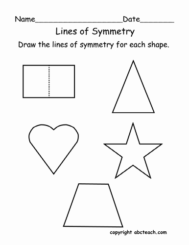 Line Of Symmetry Worksheet Beautiful Worksheet Lines Of Symmetry Primary by Abcteach