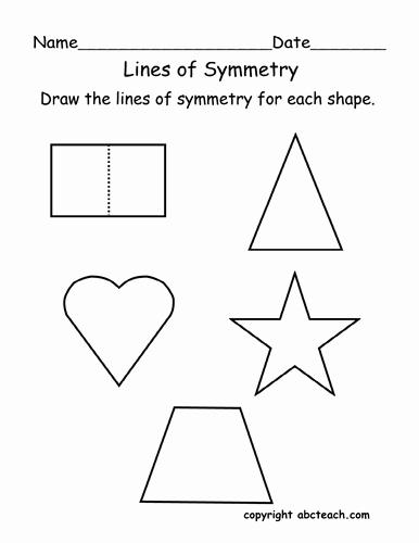 Line Of Symmetry Worksheet Beautiful Worksheet Lines Of Symmetry Primary by Abcteach