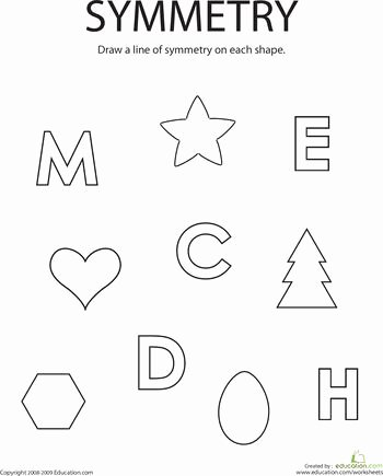 Line Of Symmetry Worksheet Best Of 7 Best Lines Of Symmetry Images On Pinterest