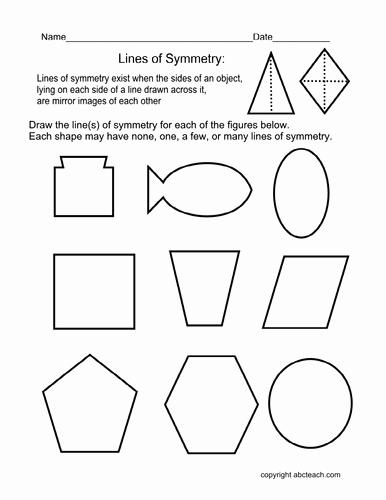 Line Of Symmetry Worksheet Elegant Worksheet Draw Lines Of Symmetry Elem by Abcteach