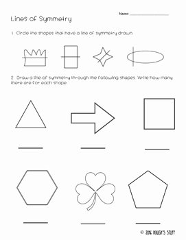 Line Of Symmetry Worksheet Fresh Lines Of Symmetry by Hough S Stuff