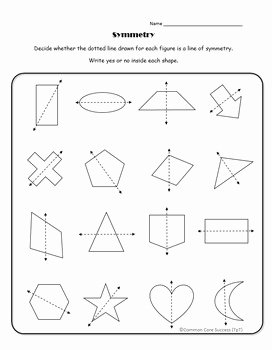 Line Of Symmetry Worksheet Inspirational 4th Grade Lines Of Symmetry for Two Dimensional Figures by