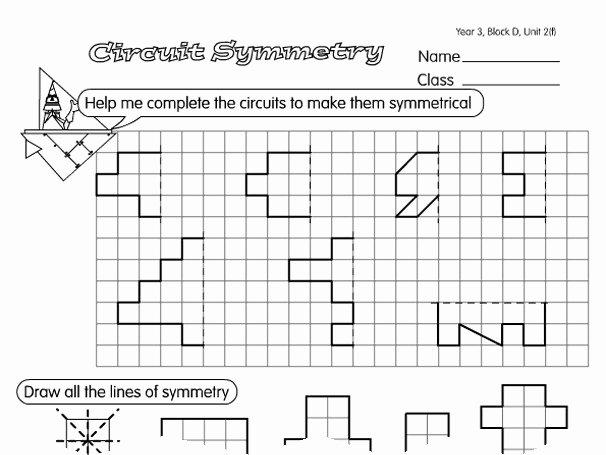 lines of symmetry worksheet