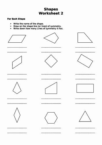 Line Of Symmetry Worksheet Lovely Gcse Edexcel Maths Shapes Symmetry by Drmathsandscience