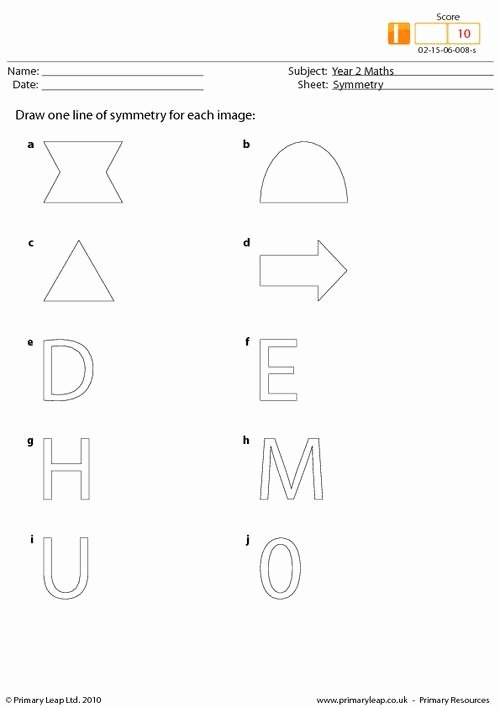Line Of Symmetry Worksheet Lovely Symmetry This Activity asks Children to Draw One Line Of