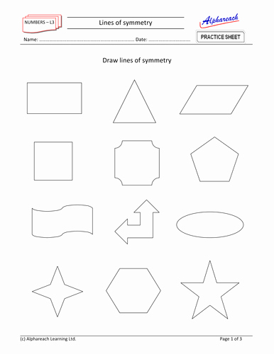 Line Of Symmetry Worksheet Luxury Maths Lines Of Symmetry by areach