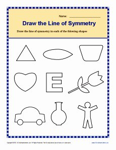Line Of Symmetry Worksheet New Draw the Lines Of Symmetry