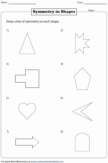 Line Of Symmetry Worksheet New Symmetry Worksheets