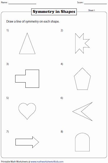 Line Of Symmetry Worksheet New Symmetry Worksheets