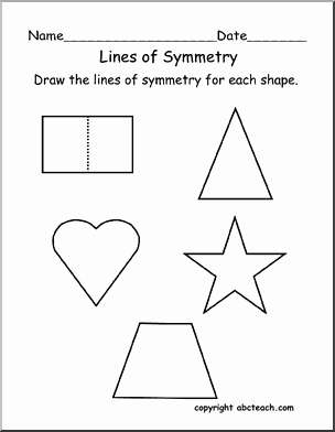 Line Of Symmetry Worksheet New Worksheet Lines Of Symmetry Primary