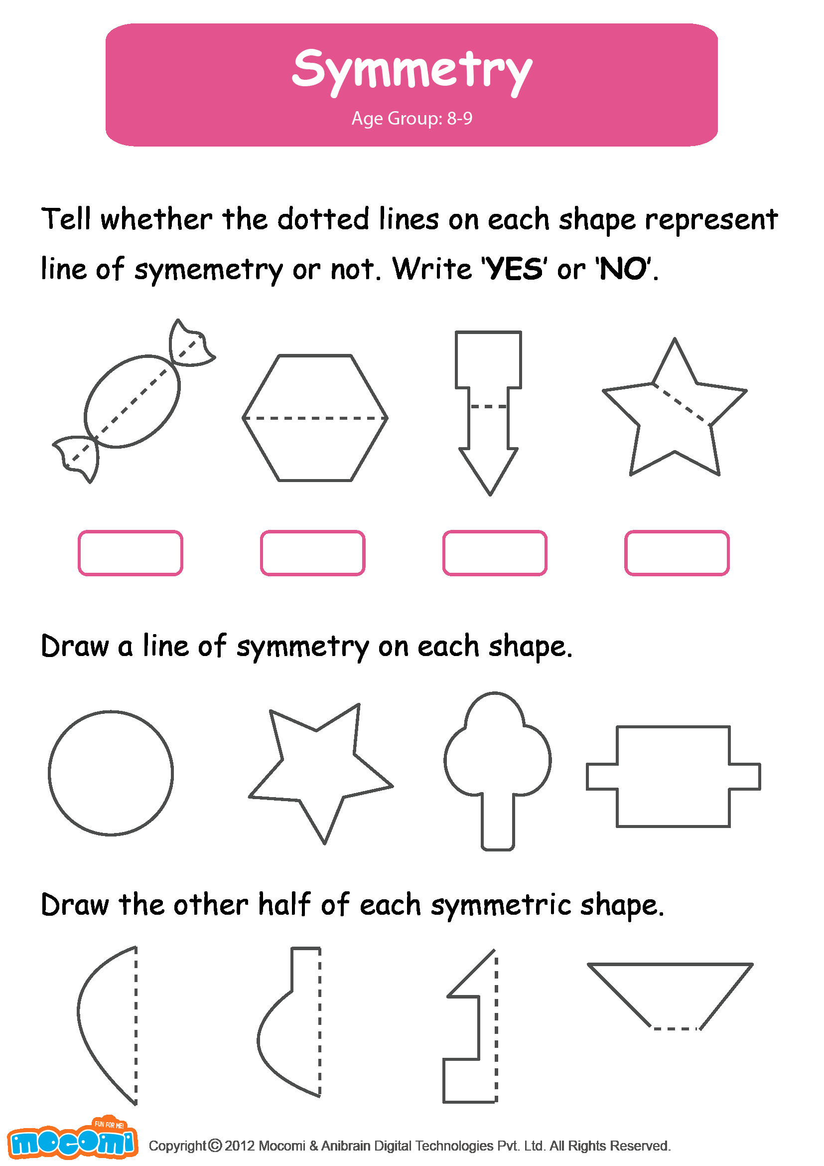 Line Of Symmetry Worksheet Unique Symmetry Worksheet for Kids Maths for Kids