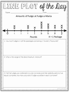 Line Plots with Fractions Worksheet Beautiful Worksheet Wednesday Fractions On A Line Plot Freebie