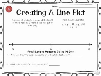 Line Plots with Fractions Worksheet Inspirational Line Plot Worksheets with Fractions by the Math Spot