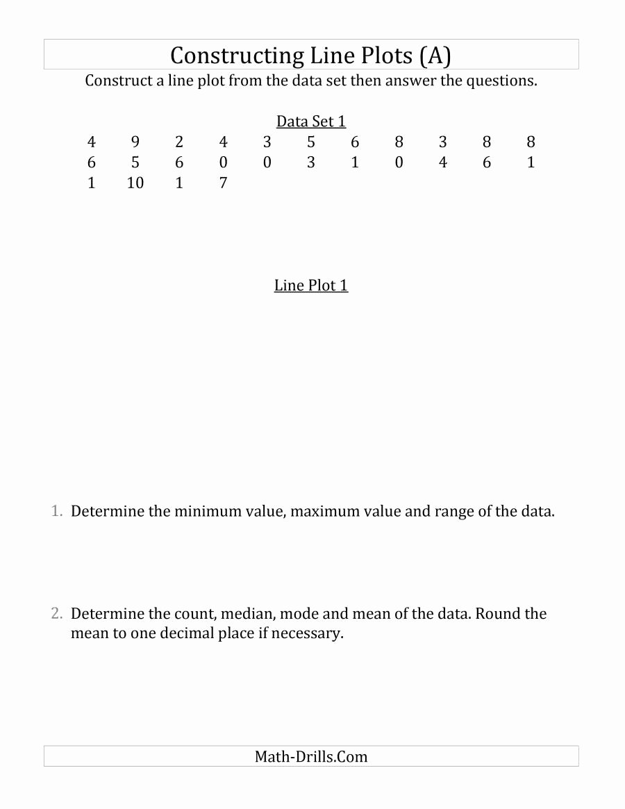 Line Plots with Fractions Worksheet Lovely Constructing Line Plots From Smaller Data Sets with