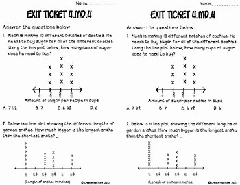 Line Plots with Fractions Worksheet Luxury Line Plots with Fractions Math Tasks and Exit Tickets by