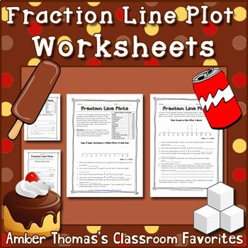 Line Plots with Fractions Worksheet Unique Fraction Line Plot Worksheets by Amber Thomas