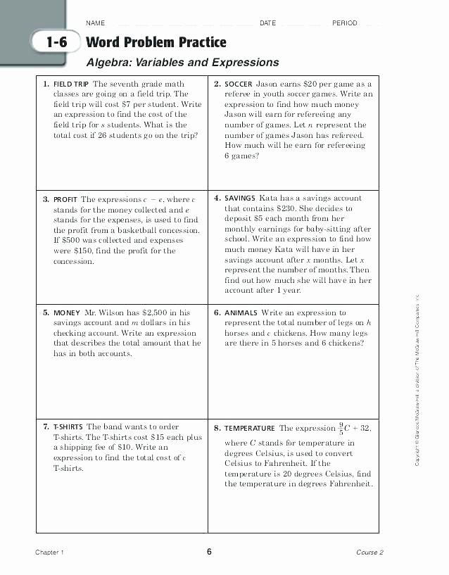 Linear Equation Word Problems Worksheet Luxury Writing Linear Equations From Word Problems Worksheet Pdf