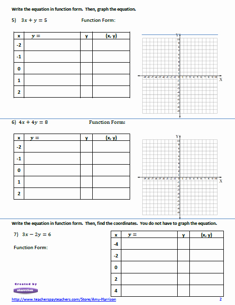 Linear Equation Worksheet Pdf Lovely Linear Equations Worksheet – Create A Table Of Values and