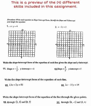 Linear Equation Worksheet with Answers Beautiful Linear Equations Review Worksheet with Answer Key & Worked