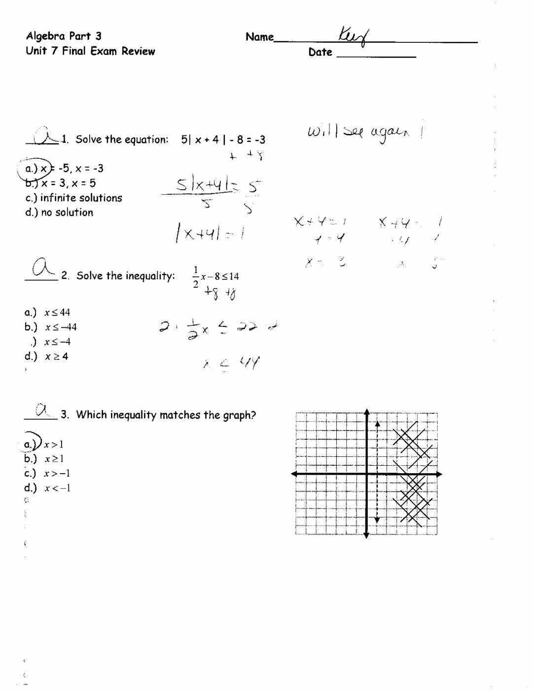 Linear Equations and Inequalities Worksheet Awesome Graphing Linear Equations Worksheet Algebra 1