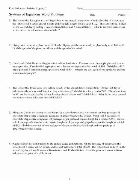 Linear Equations Word Problems Worksheet Beautiful Linear Equation Word Problems Worksheet
