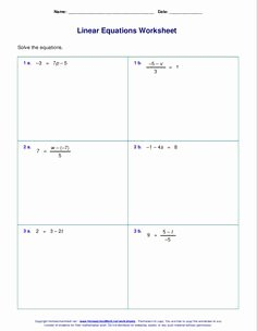 Linear Equations Worksheet Pdf Best Of Two Step Equations Worksheets Containing Decimals
