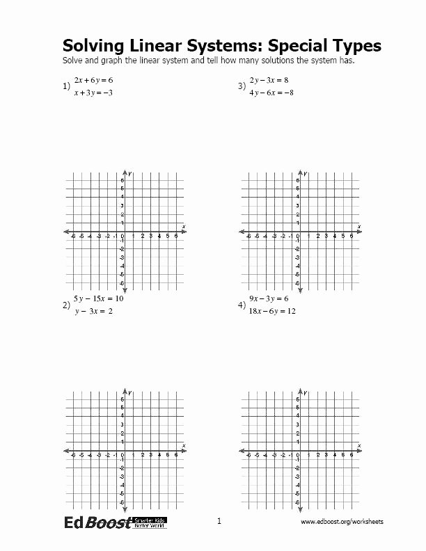 Linear Equations Worksheet Pdf Fresh solving Systems Of Linear Equations Inequalities