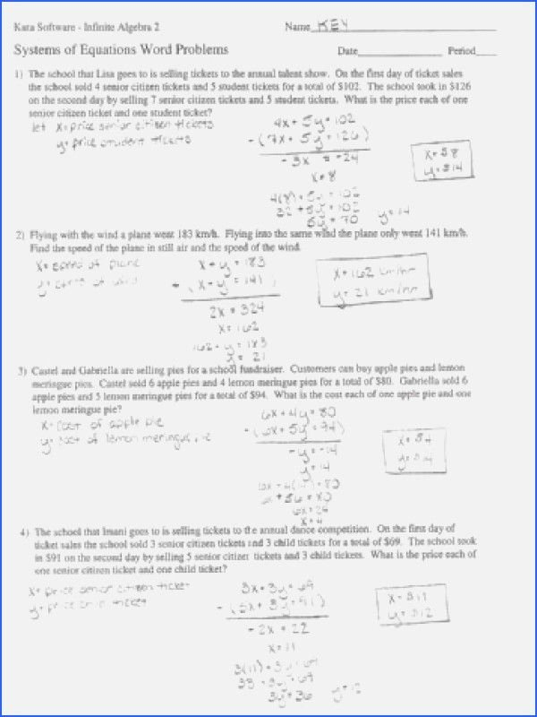 Linear Equations Worksheet with Answers Beautiful Linear Equations Worksheet with Answers