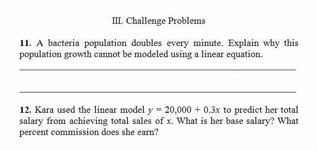 Linear Word Problem Worksheet Elegant Writing Equations From Word Problems Worksheet