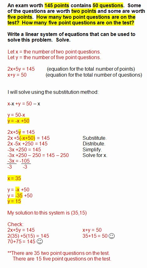 Linear Word Problem Worksheet Luxury Linear Equation Word Problems Worksheet