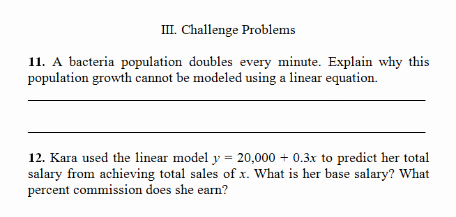 Linear Word Problem Worksheet Luxury Linear Equation Word Problems Worksheet Pdf and Answer