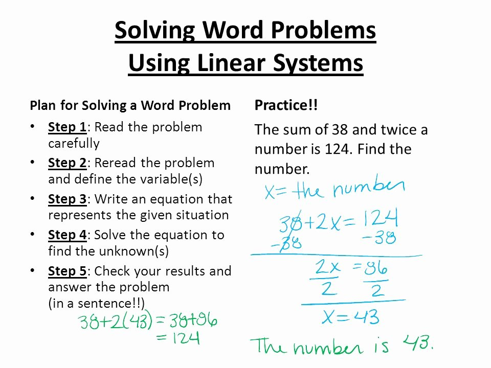 Linear Word Problems Worksheet Beautiful Using Linear Equations to solve Problems How to solve