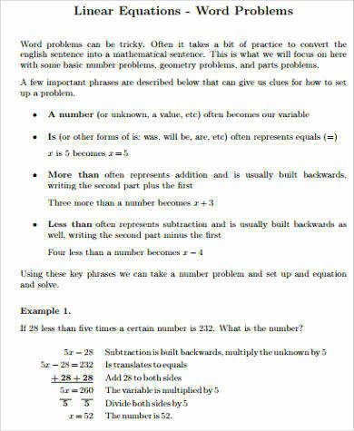 Linear Word Problems Worksheet New Linear Equation Word Problems Worksheet