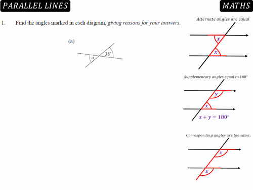 Lines and Angles Worksheet Fresh Angles In Parallel Lines by Danbar1000